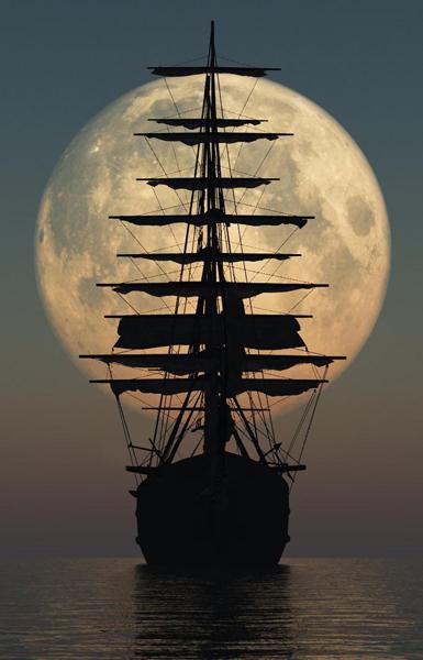 Ship at Sea - Public Domain