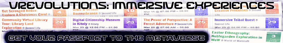 Immersive Experiences 2018 and Passport to the Metaverse
