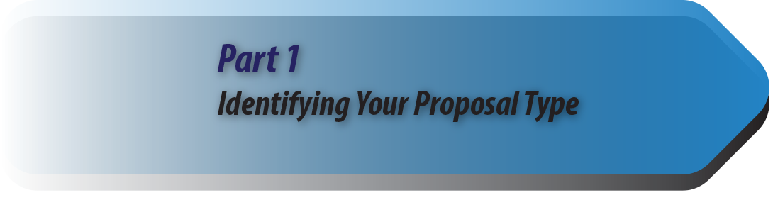 Part 1: Identifying Your Proposal Type