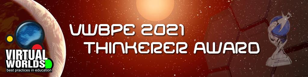 VWBPE 2021 Thinkerer Award Header