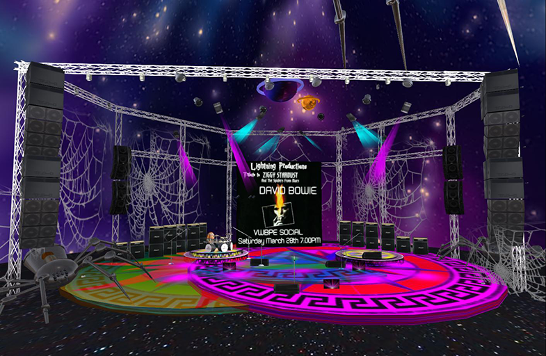 Ziggy Stardust Tribute @ VWBPE Lightning Stage