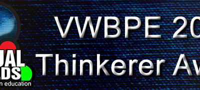 VWBPE 2019 Thinkerer Award Winner Announced