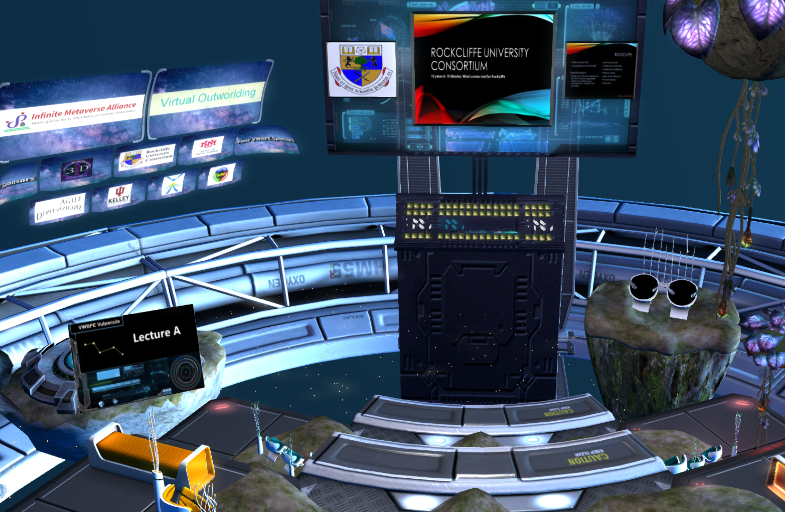 Overcoming technical limits of LSL (SL and OpenSim) @ VWBPE Lecture Area A